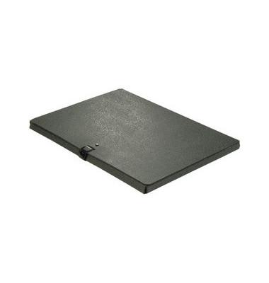 Sammelbox RC-Hartp. A4 schwarz 1cm hoch Druckkn.