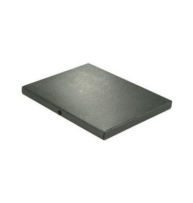 Dokumentenmappe RC-Hartp. A4 schwarz 2cm hoch Druckkn.