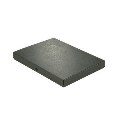 Dokumentenmappe RC-Hartp. A4 schwarz 3cm hoch Druckkn.