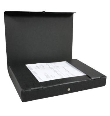 Dokumentenmappe A4 schwarz Hartpappe 31414