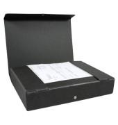 Dokumentenmappe RC-Hartp. A4 schwarz 6cm hoch Druckkn.
