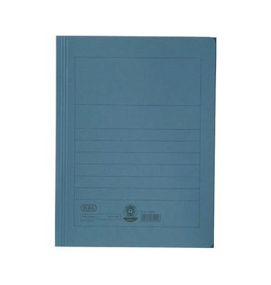 Aktenmappe A4 mit 3 Klappen blau