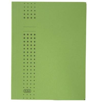 Aktendeckel Chic mit 3 Klappen grün für A4