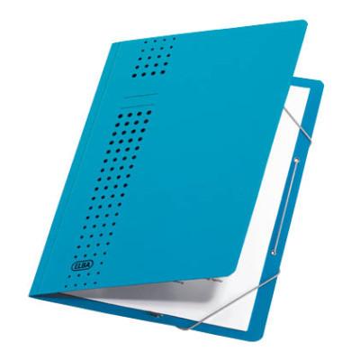 Eckspanner A4 chic blau 450g Recyclingkarton mit Eckspanngummi