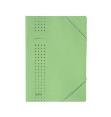 Eckspanner A4 chic grün 450g Recyclingkarton mit Eckspanngummi