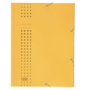 Eckspanner A4 chic blau 320g Karton gelb 3 Klappen für 150 Blatt