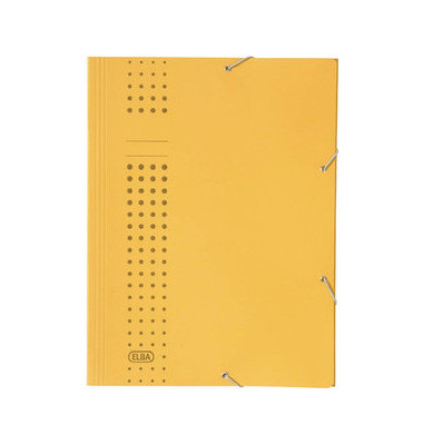 Eckspannmappe chic A4 320g gelb
