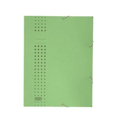 Eckspanner A4 chic blau 320g Karton grün 3 Klappen für 150 Blatt