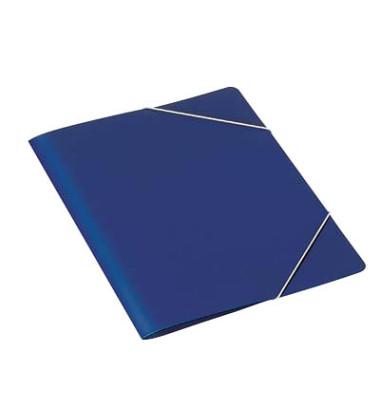 Eckspanner A4 PP dunkelblau für 50 Blatt mit Eckspanngummi