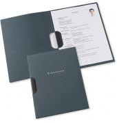 Bewerbungsmappe professional clip-fix mit Clip A4 bis 30 Blatt anthrazit