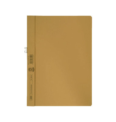 Klemmhandmappe ohne VD gelb A4 250g für 10 Blatt