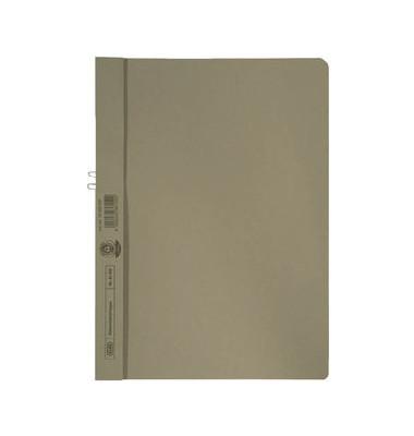 Klemmhandmappe ohne VD grau A4 250g für 10 Blatt