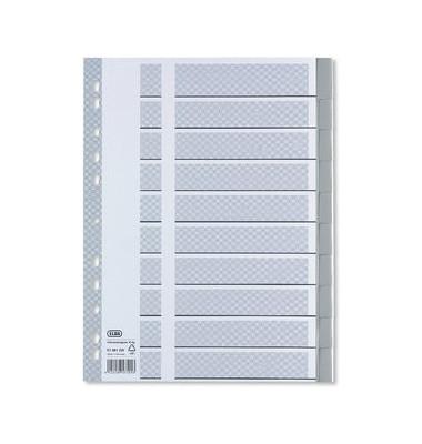 Kunststoffregister 400028107 blanko A4 0,2mm graue Fenstertabe zum wechseln 10-teilig