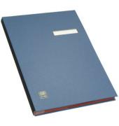 Unterschriftenmappe 41403 A4 Kunststoff blau mit Einsteckschild 20 Fächer