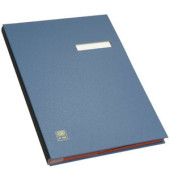 Unterschriftsmappe A4 20 Fächer blau
