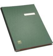 Unterschriftenmappe 41403 A4 Kunststoff grün mit Einsteckschild 20 Fächer