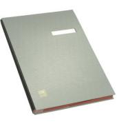 Unterschriftsmappe A4 20 Fächer grau