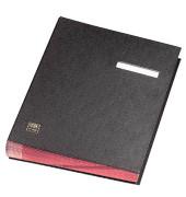 Unterschriftenmappe 41403 A4 Kunststoff schwarz mit Einsteckschild 20 Fächer