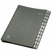Pultordner 42414 A4 A-Z schwarz 24-teilig