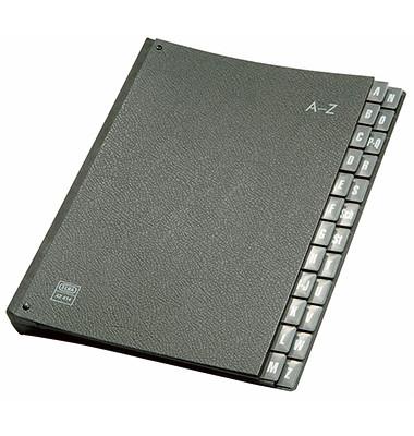 Pultordner A4 24-teilig A-Z Recyclingkarton schwarz