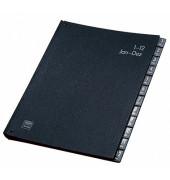 Pultordner 42416 Jan-Dez A4 12-teilig Recyclingkarton schwarz