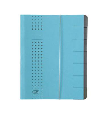 Ordnungsmappe Chic A4 7tlg. blau 315x250x12mm