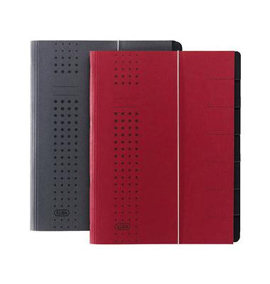 Ordnungsmappe Chic A4 7tlg. rot 315x250x12mm