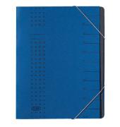 Ordnungsmappe Chic A4 12tlg. dkl.blau 315x250x15mm