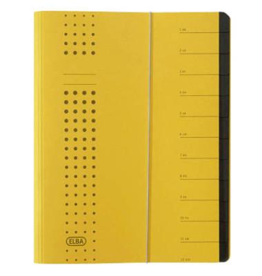 Ordnungsmappe Chic A4 12tlg. gelb 315x250x15mm