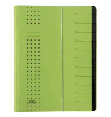 Ordnungsmappe Chic A4 12tlg. grün