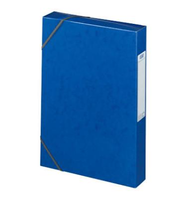 Sammelbox Eurofolio Prestige A4 blau 250x330x40mm 600g