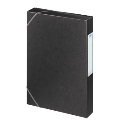 Sammelmappe Eurofolio Prestige 100200430, A4 Karton, für ca. 400 Blatt, schwarz