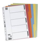 Kartonregister 57451 blanko A4 230g farbige Taben 5-teilig