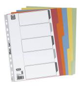 Kartonregister 400034589 blanko A4 230g farbige Taben 5-teilig