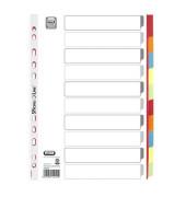 Register 57452 blanko A4 230g weiß farbige Taben 10-teilig