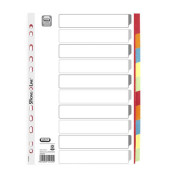 Kartonregister 57452 blanko A4 230g weiß farbige Taben 10-teilig