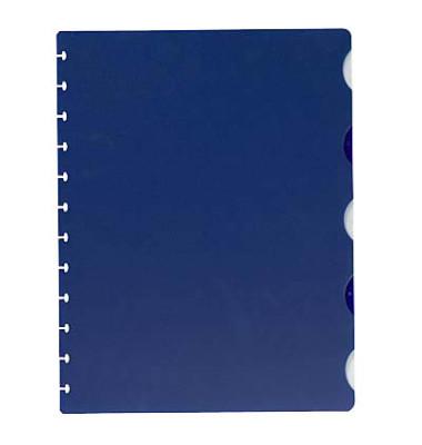Kunststoffregister 100420935 Vario-Zipp blanko A4 0,12mm blaue Taben 5-teilig