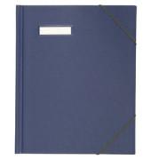 Umlaufmappe 63430 A4 PVC 3cm hoch blau mit Gummizug