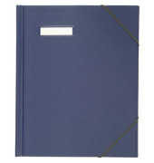 Umlaufmappe A4 PVC 3cm hoch blau mit Gummizug