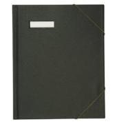 Umlaufmappe 63430 A4 PVC 3cm hoch schwarz mit Gummizug