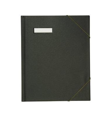 Umlaufmappe A4 PVC 3cm hoch schwarz mit Gummizug