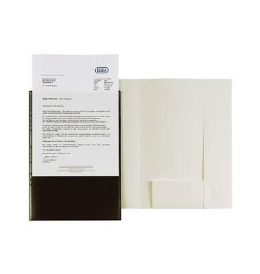 Angebotsmappe m.A4-Sichttasche weiß A4 0,5mm PP z.Abhef.