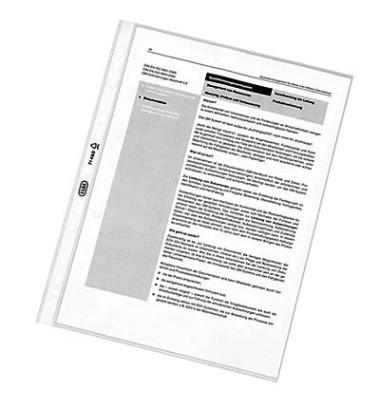 Prospekthüllen A4 transparent genarbt 80my oben offen 100 Stück