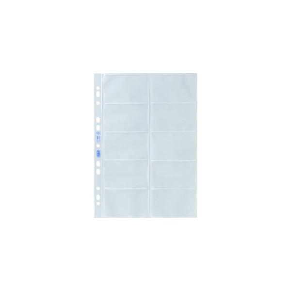 Visitenkartenhüllen A4 Pp Folie Glasklar Für 20 Karten Eurolochung 10 Stück