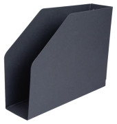Stehsammler 85 x 318 x 245mm A4 quer Hartpappe recycling schwarz