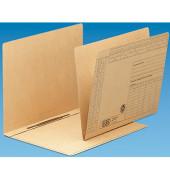 Einstellhefter A4 Recyclingkarton braun 310x230mm kaufmännische Heftung / Amtsheftung