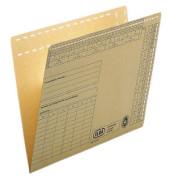 Einstellmappen Universal 80432 A4 230g Natronkarton braun für 80 Blatt