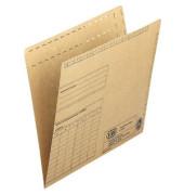 Einstellmappen 80437 A4 230g Recyclingkarton braun für 80 Blatt