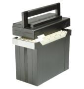 Hängemappenbox Go-Set-Go 80492 schwarz bis 15 Mappen befüllt mit 5 Mappen