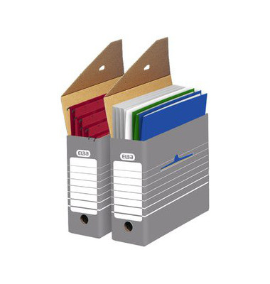 Archivboxen tric 83420 A4 grau/weiß 26,5x9,5x34cm